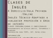 Clases de ingles personalizadas de inglés a domicilio/online