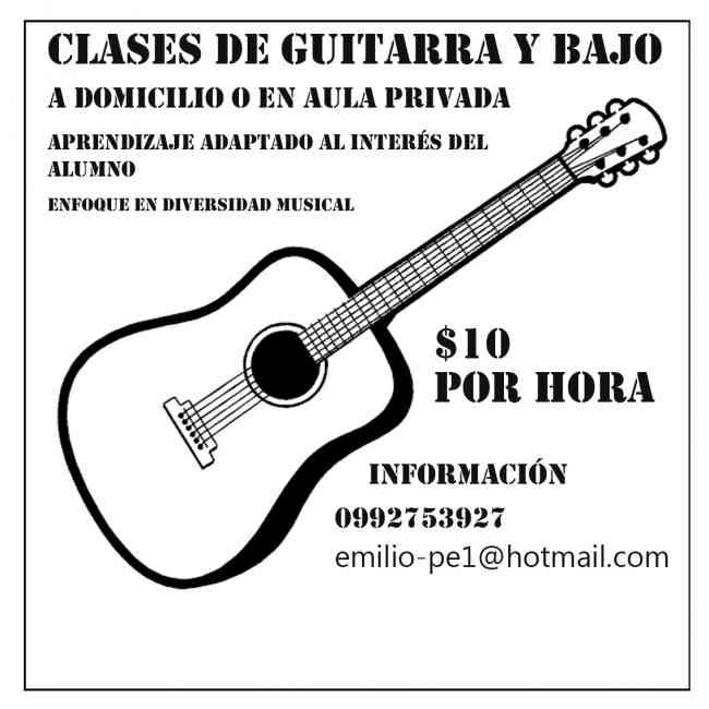 Clases Guitarra y Bajo a Domicilio