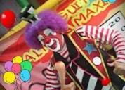 Original show payasos fiestas infantil, payasos, personajes tv. carita pintada, mimo, mago, inflable
