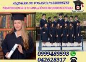 Alquiler de togas para graduación