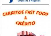 Coches de comida rapida a credito con pagos semanales