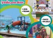 Local fiesta infantil con piscina parque acuatico la garzota