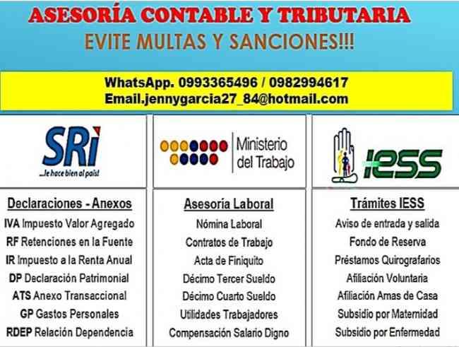 Servicios de asesoría contable y contable