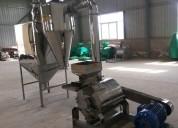 Molino de acero inoxidable para harinas de consumo humano