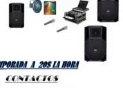 Alquiler de amplificacion decoracion con telas iluminacion tarimas 0983611452