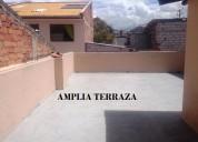 Villa 2 pisos, 5 dormit, media agua y terraza en totoracocha.