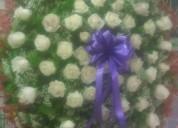 Ofrenda fúnebre de rosas,la florería entrega oportuna