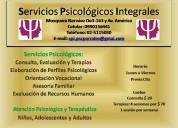 Servicio de atención psicológica - consulta, evaluación y terapias
