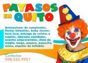 $25 fiestas infantiles quito ·payasos cumpleaños mago hora loca baby showers^*