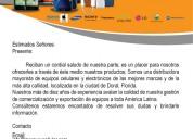 Distribuidor de celulares mercury cellular export localisado en miami,florida
