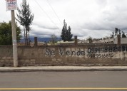 Vendo terreno  frente al estadio de santa cruz  en ambato 0989516815