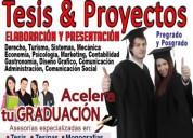 Realizamos tesis de pre grado, postgrado, tesinas y proyectos integradores.