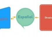 Traducciones de español a inglés y viceversa, así como de alemán a español con entrega muy ráp