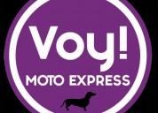 Voy moto express servicio de mensajeria puerta a puerta