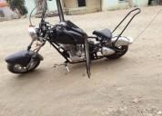 Excelente mni moto tipo harley atoda pruba 0997764305