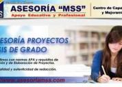 Clases y asesoramiento en tesis