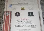 Busco trabajo como bartender, contactarse.