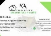 Servicio de arquitectura. contactarse.