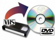 Conversion cassette vhs a digital dvd, contactarse.