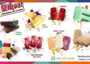 Oferta de trabajo distribución de helados artesanales, contactarse.