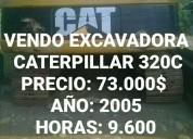 Vendo excavadora caterpillar , oportunidad!.