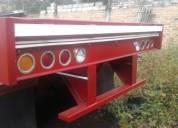 Vendo plataforma tres ejes con caravana
