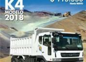 Volqueta daewoo, serie novus modelo k4def 2018,aprovecha ya!.