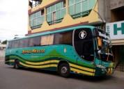 Bus scania 360 trabajando cambio de unidad