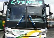 Excelente bus rutas orenses, con acciones