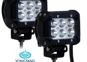 Barra led cree 18w neblinero doble fila 6 led