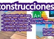 Servicios inmobiliarios de construcción en rumiloma-sangolqui