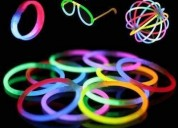 100 pulseras neón glow stick manillas / luminosas brazaletes