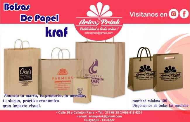 Bolsas de papel kraf