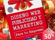Páginas web, tiendas virtuales y marketing digital