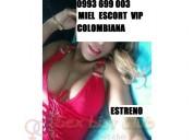 Miel escort trigueÑa curvilinea de 28 aÑos colombiana 0993699003