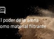 Arena sílice lecho filtrante