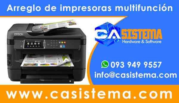 Reparación de impresoras laptops y soporte informático 0939499557 Casistema