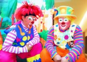 $50 fiestas infantiles..payasos,*cumpleaños caritas pintadas, magia, mimo inflable hora loca mago..