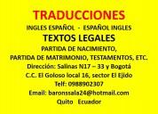 Traduccion ingles espaÑol -  espaÑol ingles.