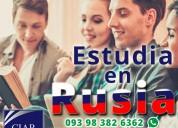 Estudia en rusia, todas las carreras, maestrías, doctorados
