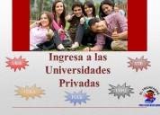 PrepÁrate para estudiar en las universidades privadas