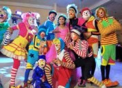Payasos, fiestas infantiles quito..·payasas, personajes tv. mago, hora loca, baby shower, inflables