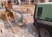 Servicio de demolición con martillos rompedores