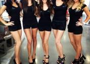 Hermosas chicas necesitadas para promociones de restaurantes.