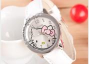 Hello kitty reloj damas y niñas (acero y cuero)