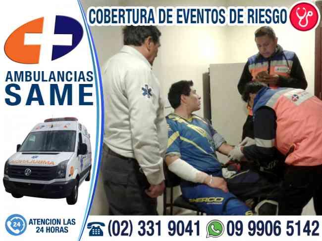 Servicio Medico y de Ambulancias Emergencias Cobertura de Eventos masivos. Ambulancia con Termocuna