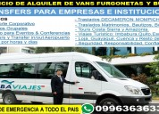Alquilo mini buses para 20 pasajeros county o vw crafter.