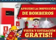 Apruebe la inspecciÓn de bomberos. sistemas contra incendios y detecciÓn de incendios, extintores