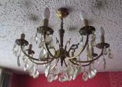 Lámparas de techo de cristal y bronce
