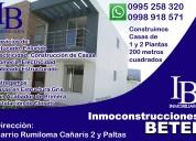 Servicios de inmoconstrucciones en rumiloma-sangolquí